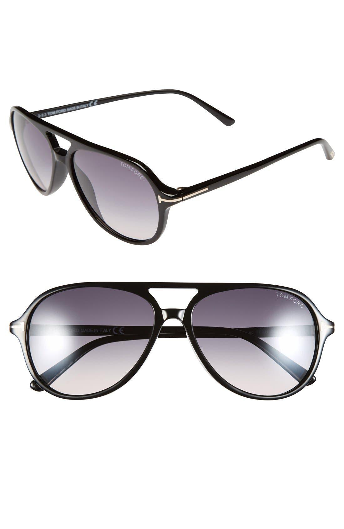Main Image - Tom Ford 'Jared' 58mm Sunglasses