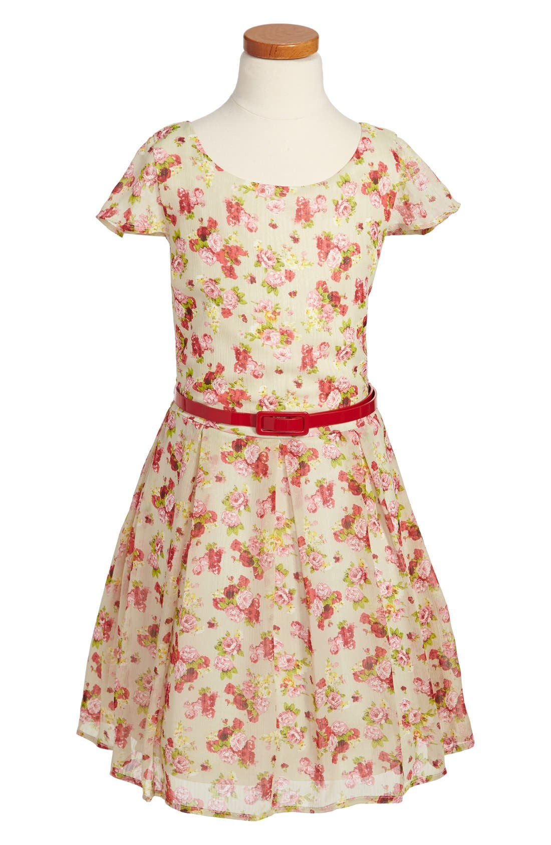 Alternate Image 1 Selected - Un Deux Trois Chiffon Dress (Big Girls)
