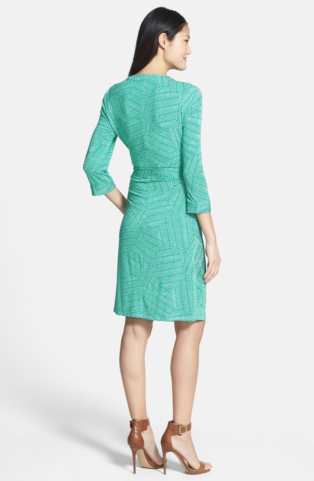 Alternate Image 3  - Laundry by Shelli Segal Print Jersey Faux Wrap Dress