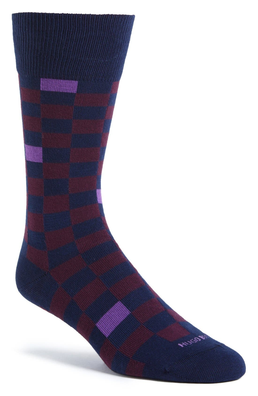 Alternate Image 1 Selected - BOSS HUGO BOSS Check Socks