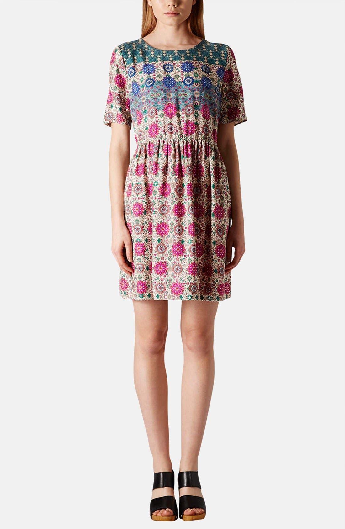 Alternate Image 5  - Topshop 'Folk Border' Print Day Dress