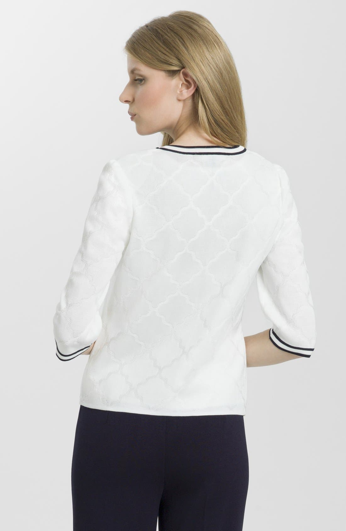 Alternate Image 2  - Ming Wang V-Neck Jacquard Jacket