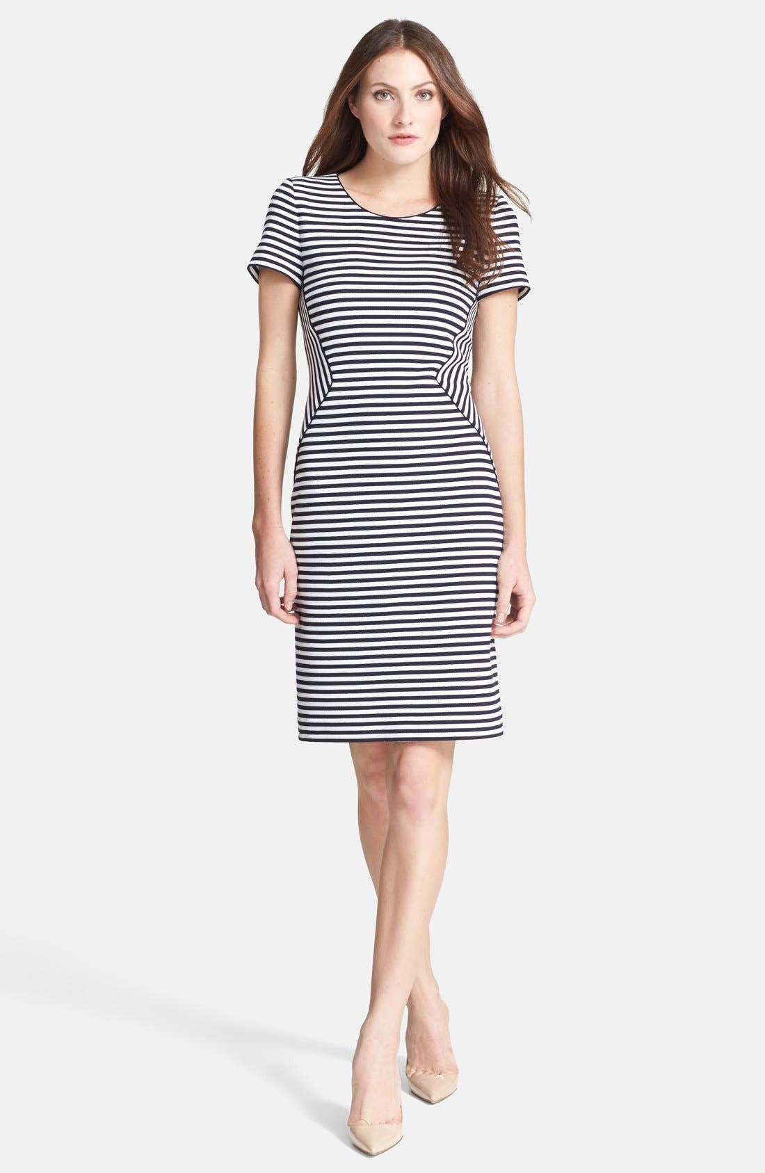 Alternate Image 1 Selected - BOSS HUGO BOSS 'Hattina' Stripe Dress
