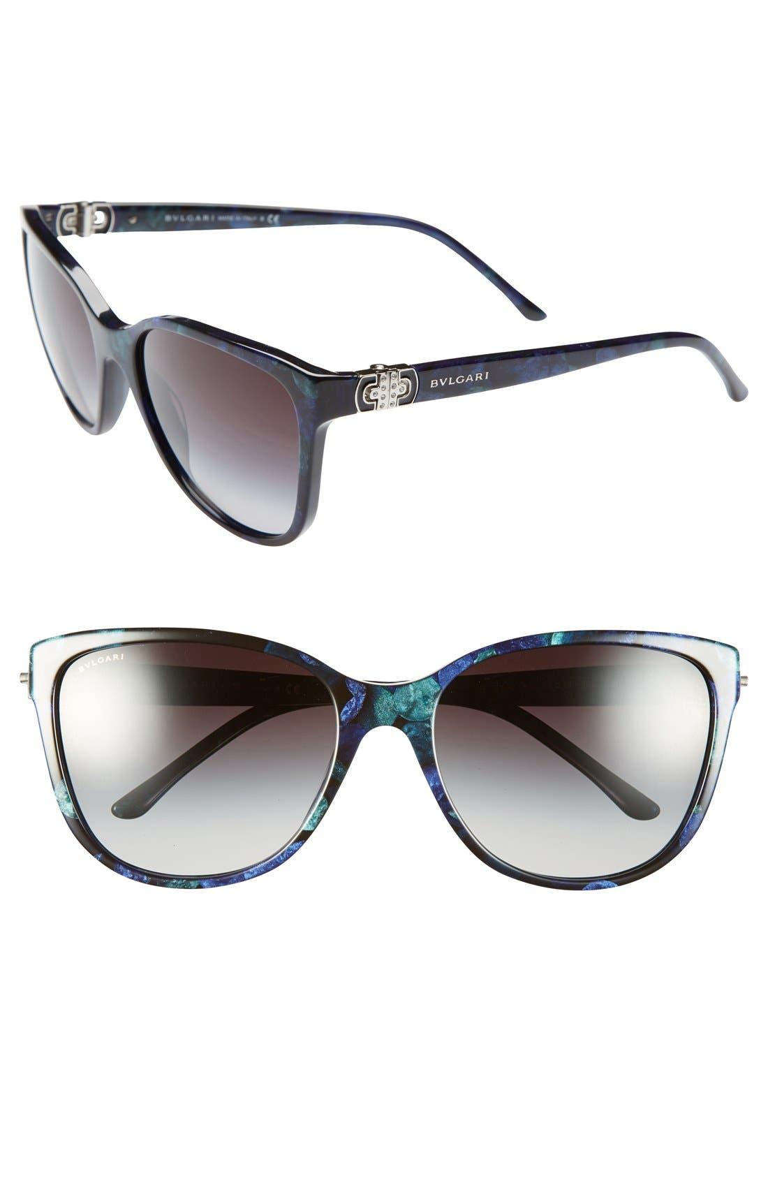Alternate Image 1 Selected - BVLGARI 58mm Oversized Sunglasses