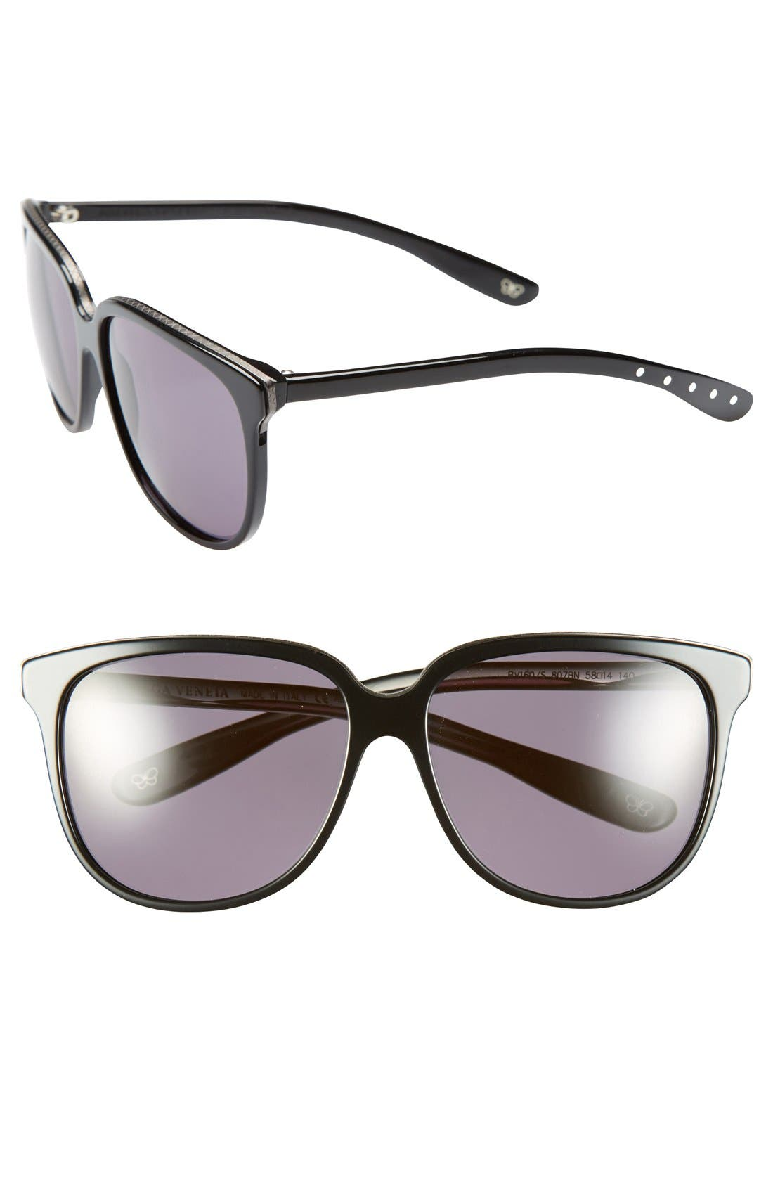 Alternate Image 1 Selected - Bottega Veneta Retro 58mm Sunglasses