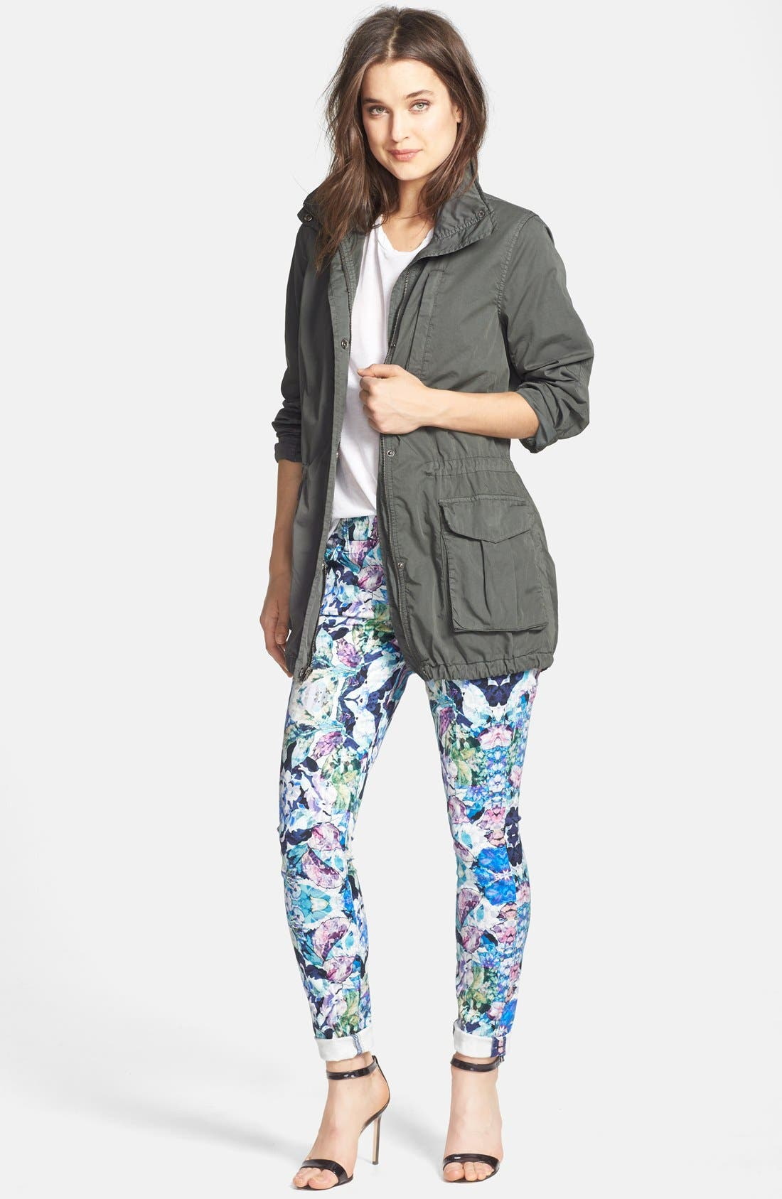 Alternate Image 4  - 7 For All Mankind® 'The Skinny' Stretch Jeans (Kaleidoscope Floral)