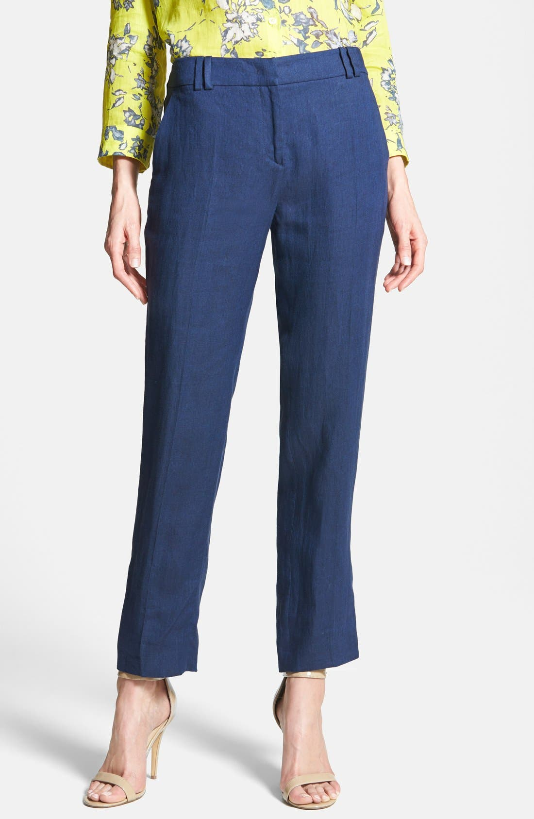 Alternate Image 1 Selected - Weekend Max Mara Linen Ankle Pants
