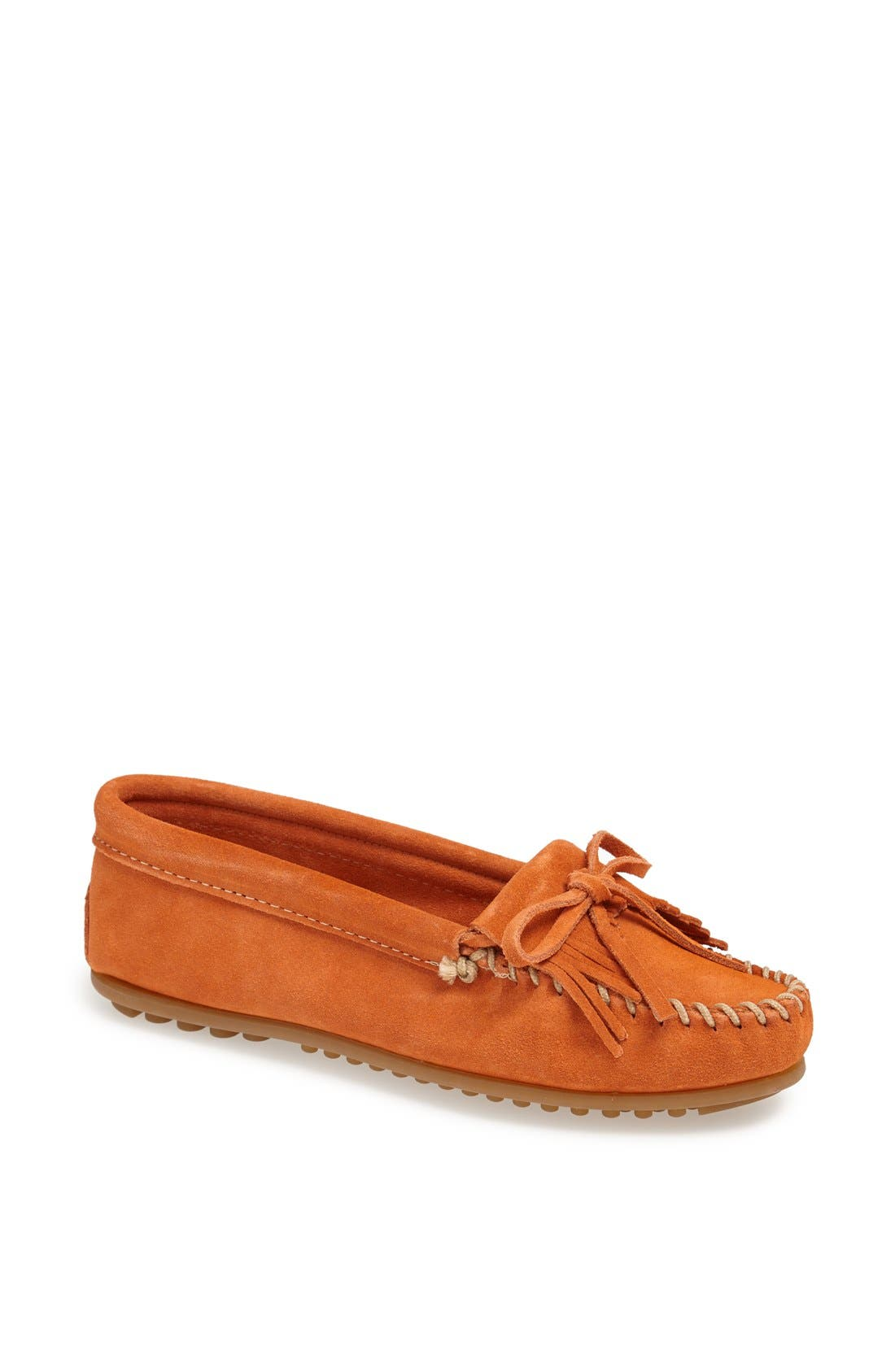 Alternate Image 1 Selected - Minnetonka 'Kilty' Suede Moccasin