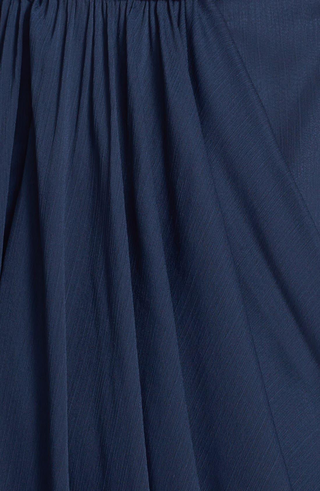 Alternate Image 3  - Lela Rose Bridesmaid Drape Crinkled Chiffon Gown