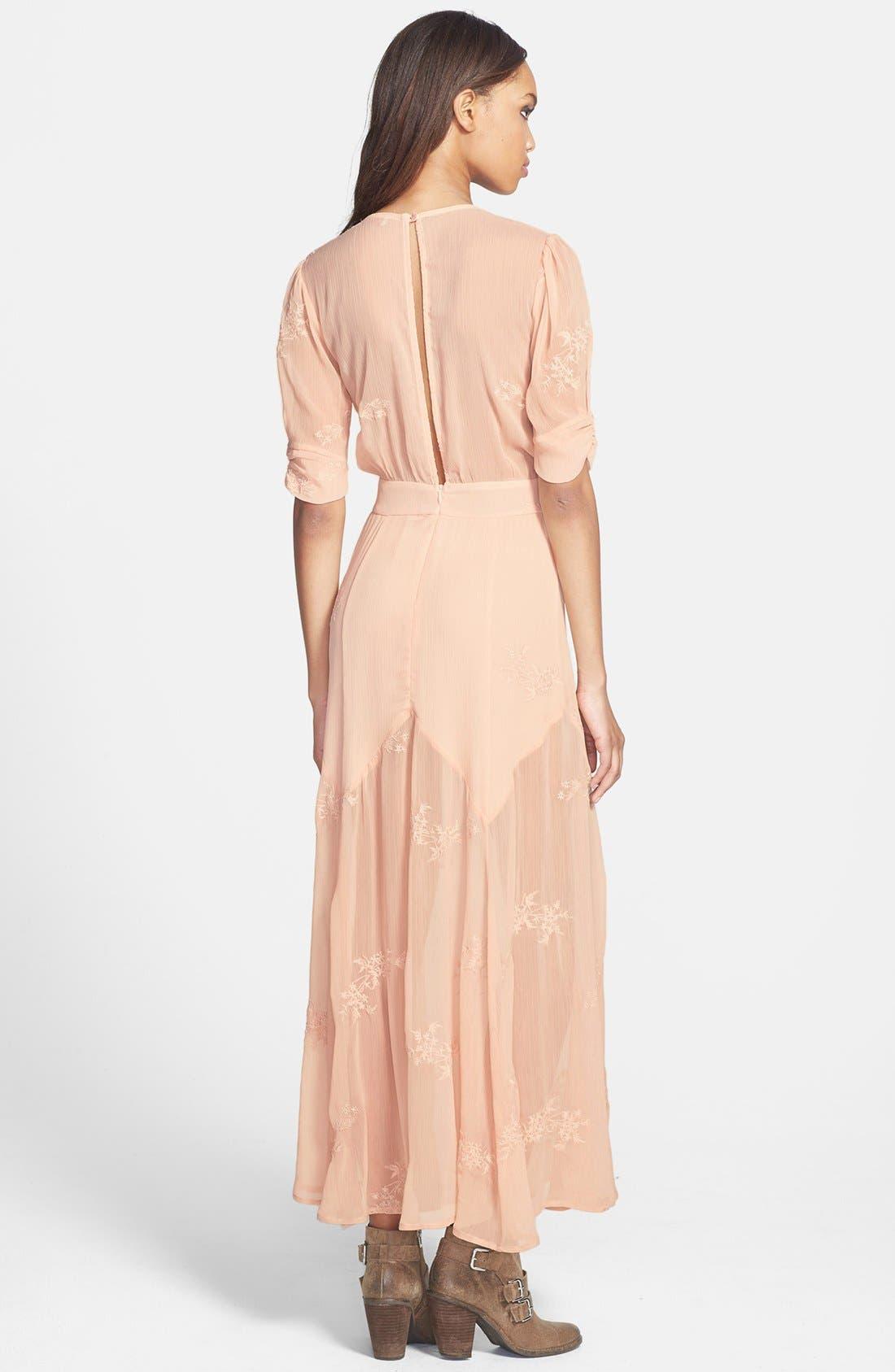 Alternate Image 2  - June & Hudson Embroidered Maxi Dress