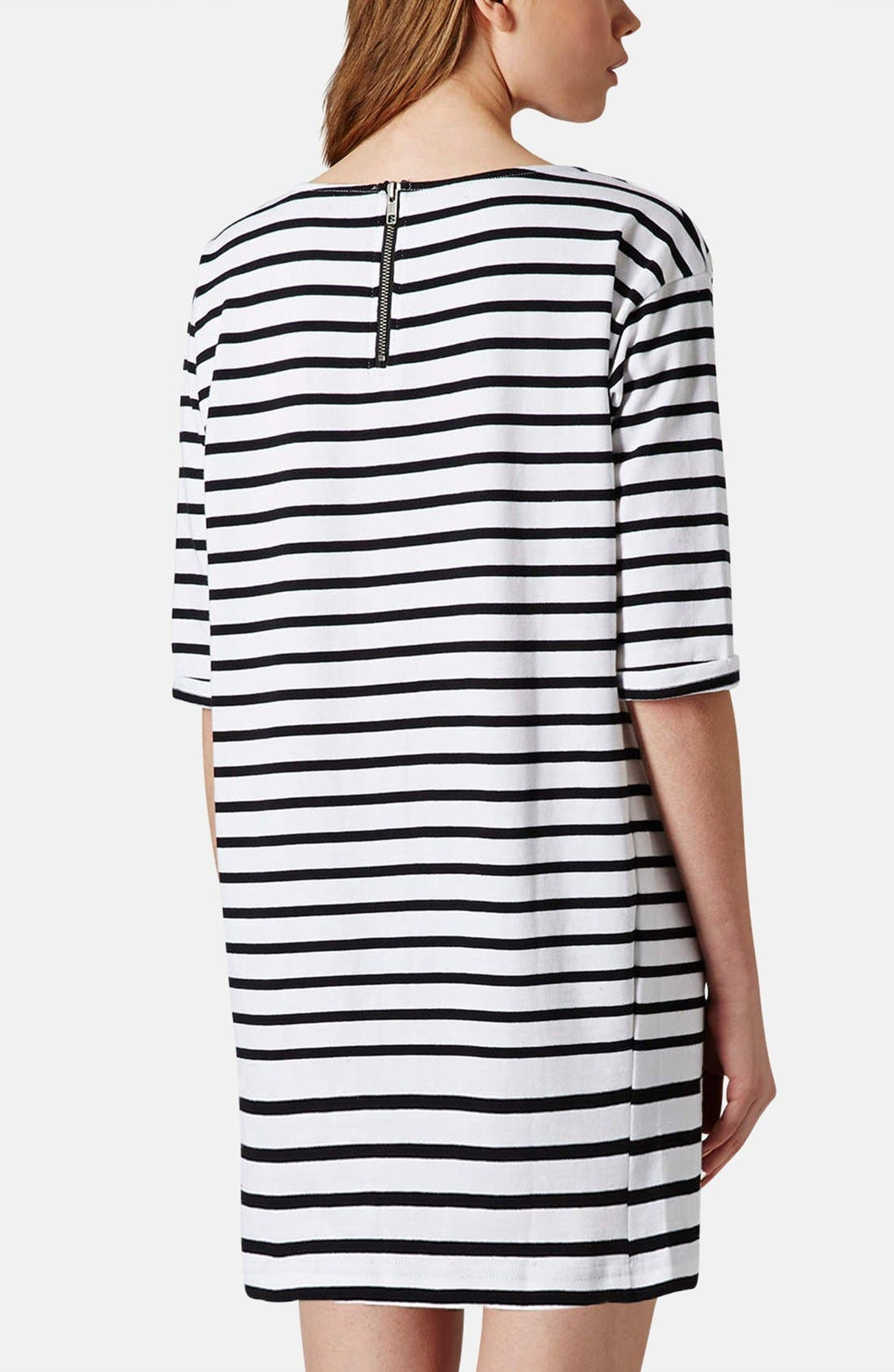 Alternate Image 2  - Topshop Stripe Cotton Tunic Dress (Petite)