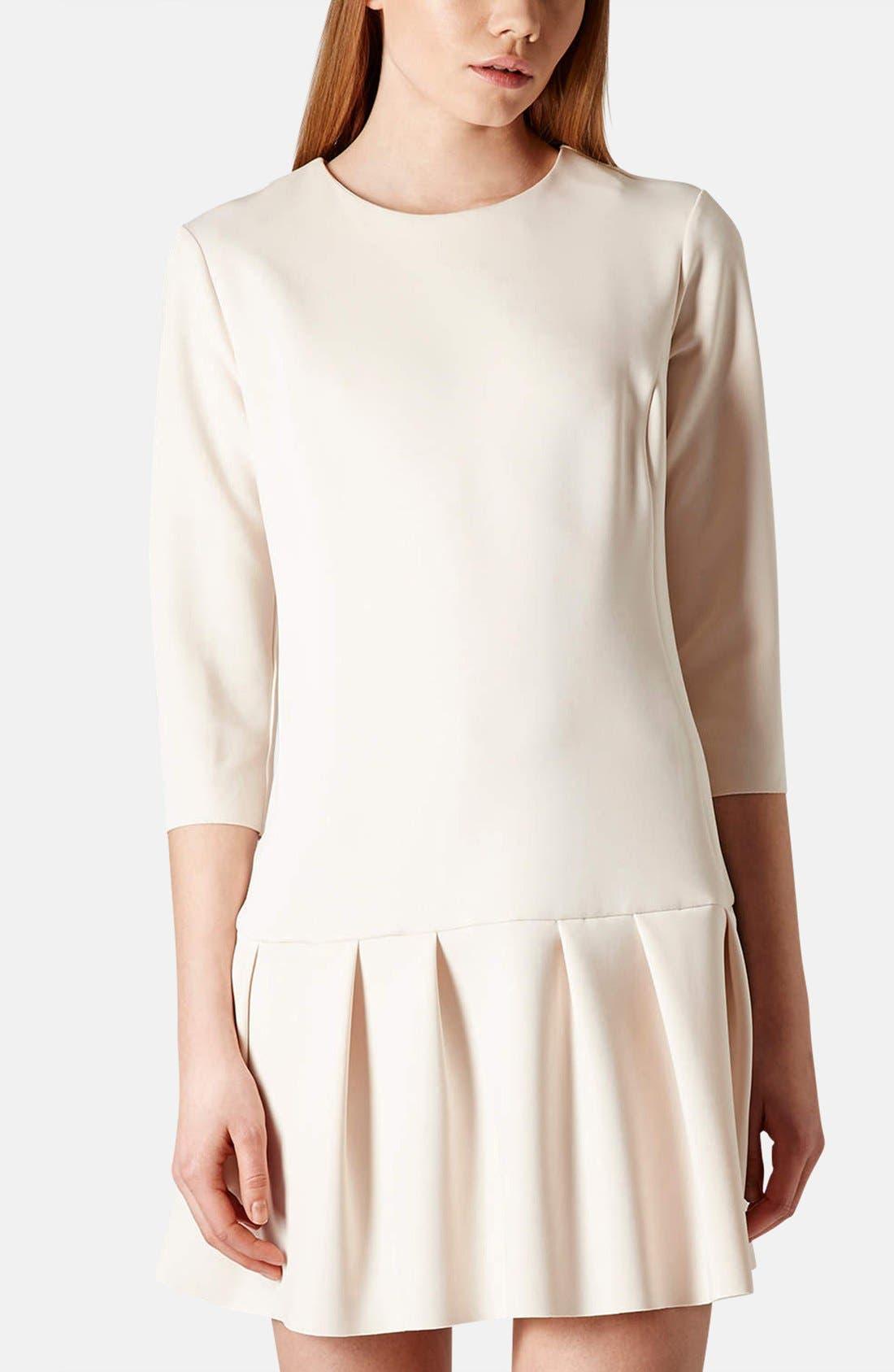 Main Image - Topshop Drop Waist Scuba Dress