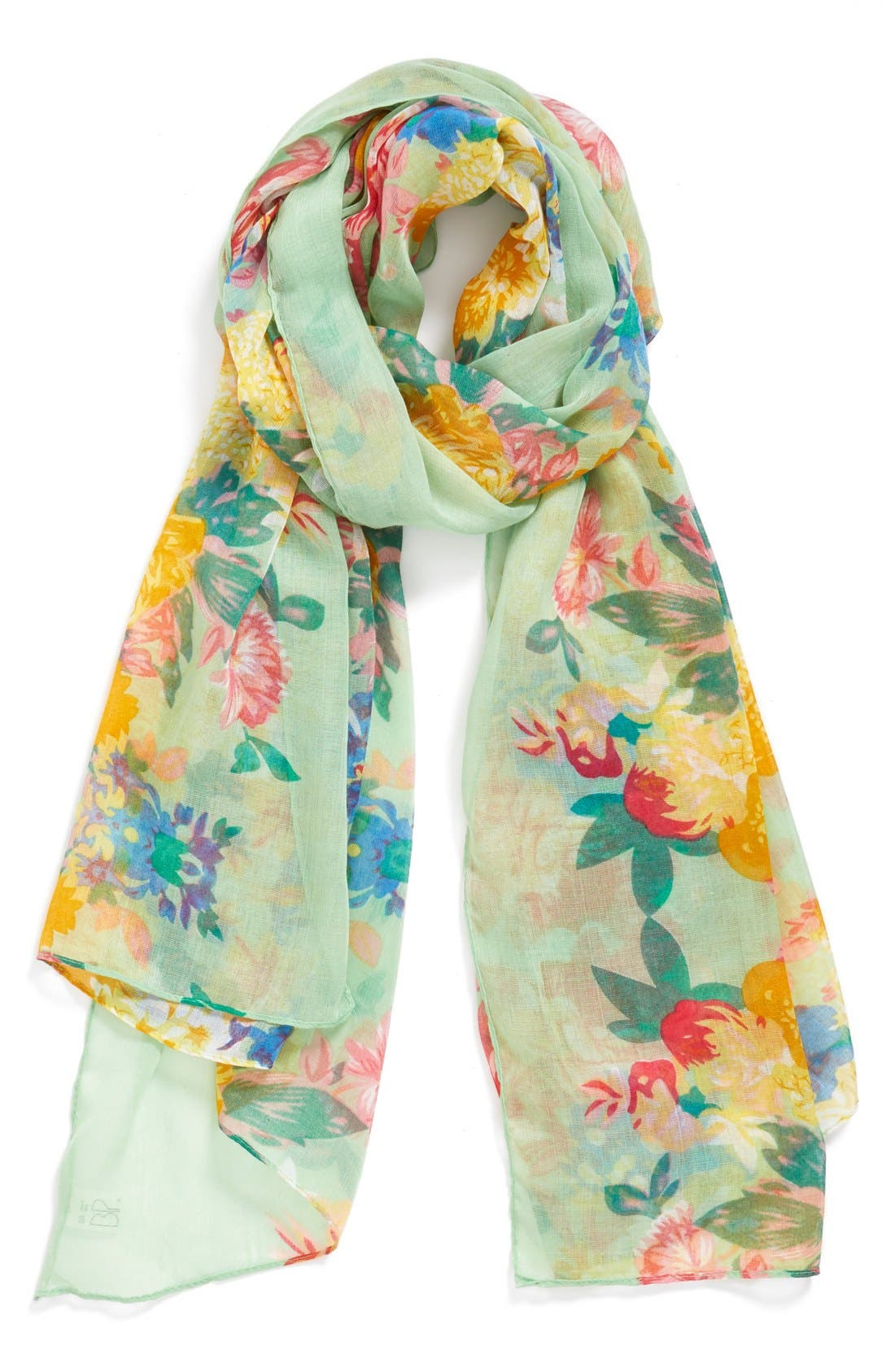 Main Image - BP. Floral Oversized Scarf (Juniors)