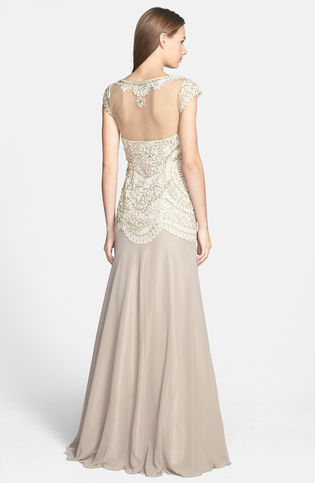 Alternate Image 2  - Sue Wong Embroidered Georgette Gown
