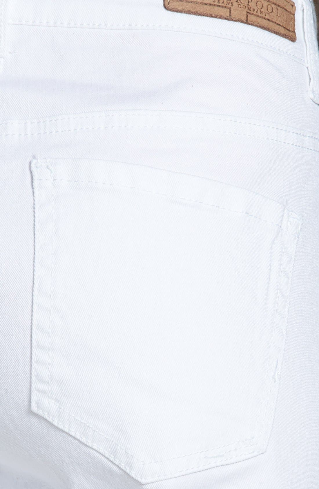 Alternate Image 3  - Liverpool Jeans Company 'Linda' Denim Shorts (White)