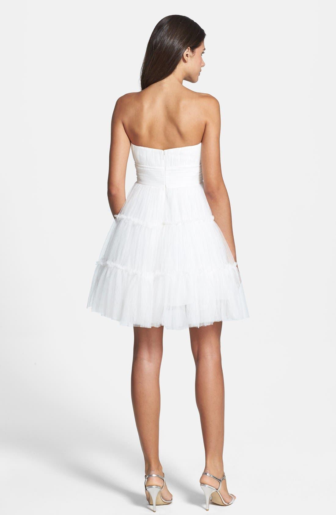 Alternate Image 3  - Aidan Mattox Tulle Fit & Flare Dress