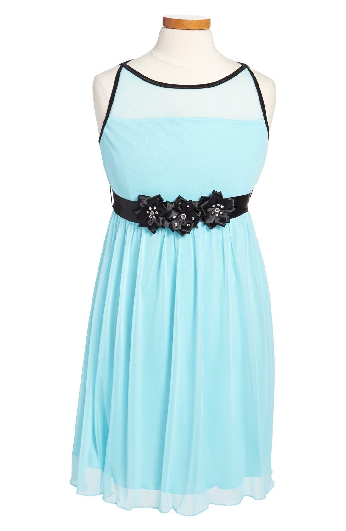 Alternate Image 1 Selected - Roxette Sleeveless Illusion Bodice Dress (Big Girls)