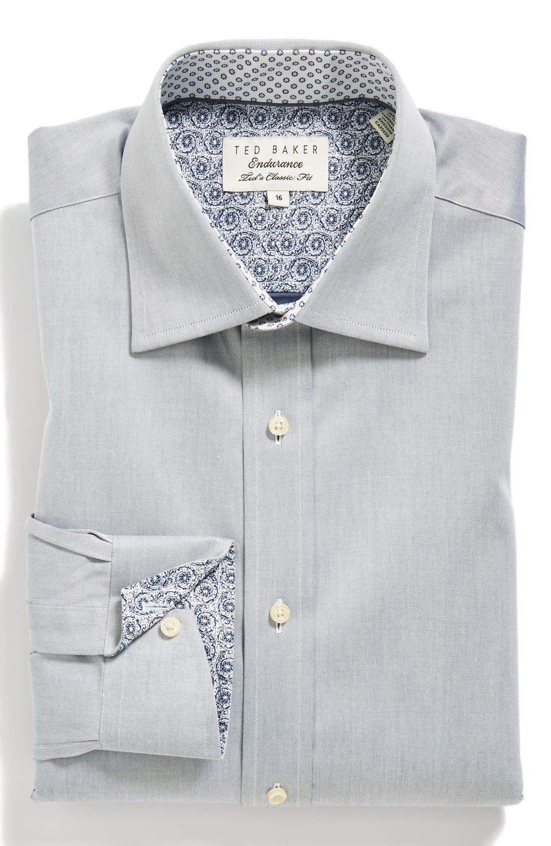 Main Image - Ted Baker London Classic Fit Solid Dress Shirt