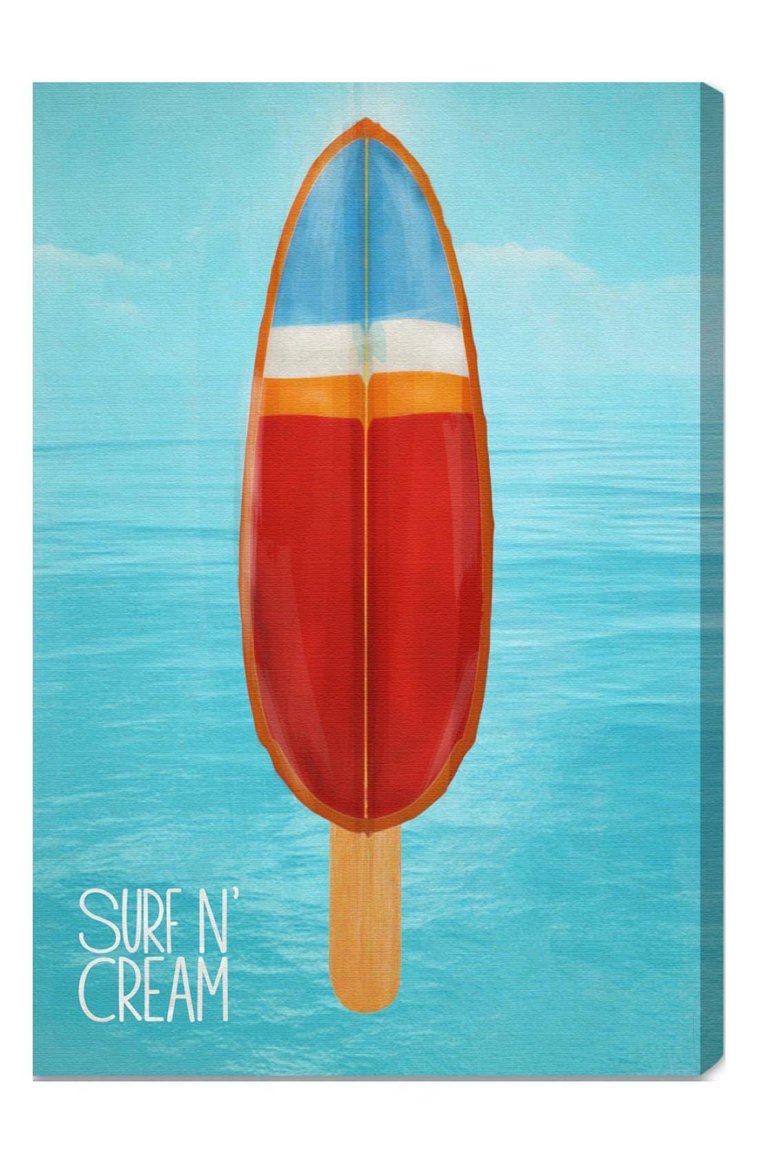 Alternate Image 1 Selected - Oliver Gal 'Surf 'n Cream' Wall Art