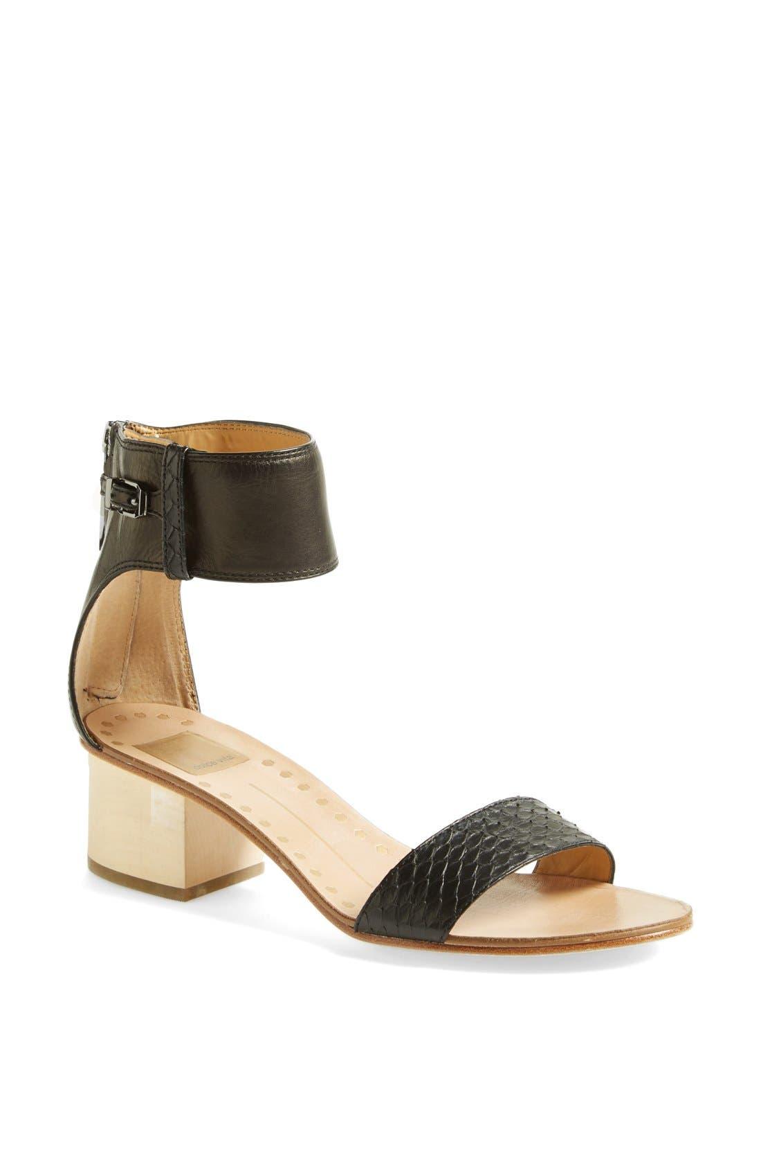 Main Image - Dolce Vita 'Foxie' Snakeskin & Leather Sandal