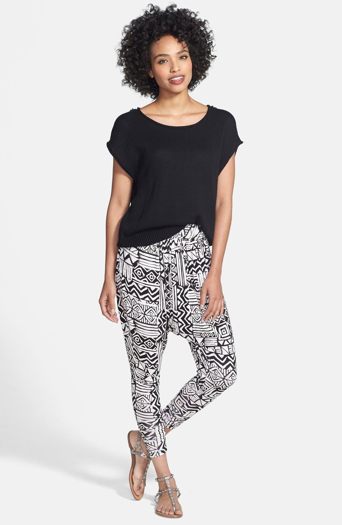 Alternate Image 4  - Nikki Rich Print Harem Pants