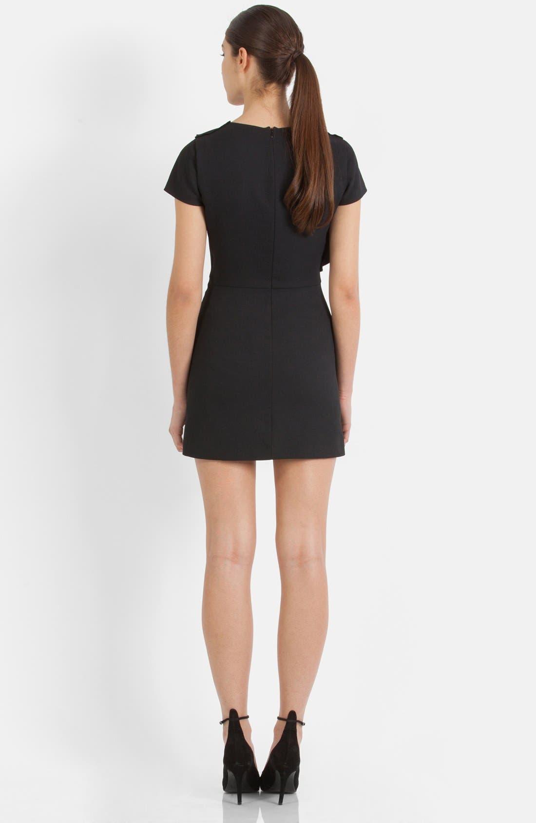 Alternate Image 2  - maje Asymmetrical Flounce Sheath Dress