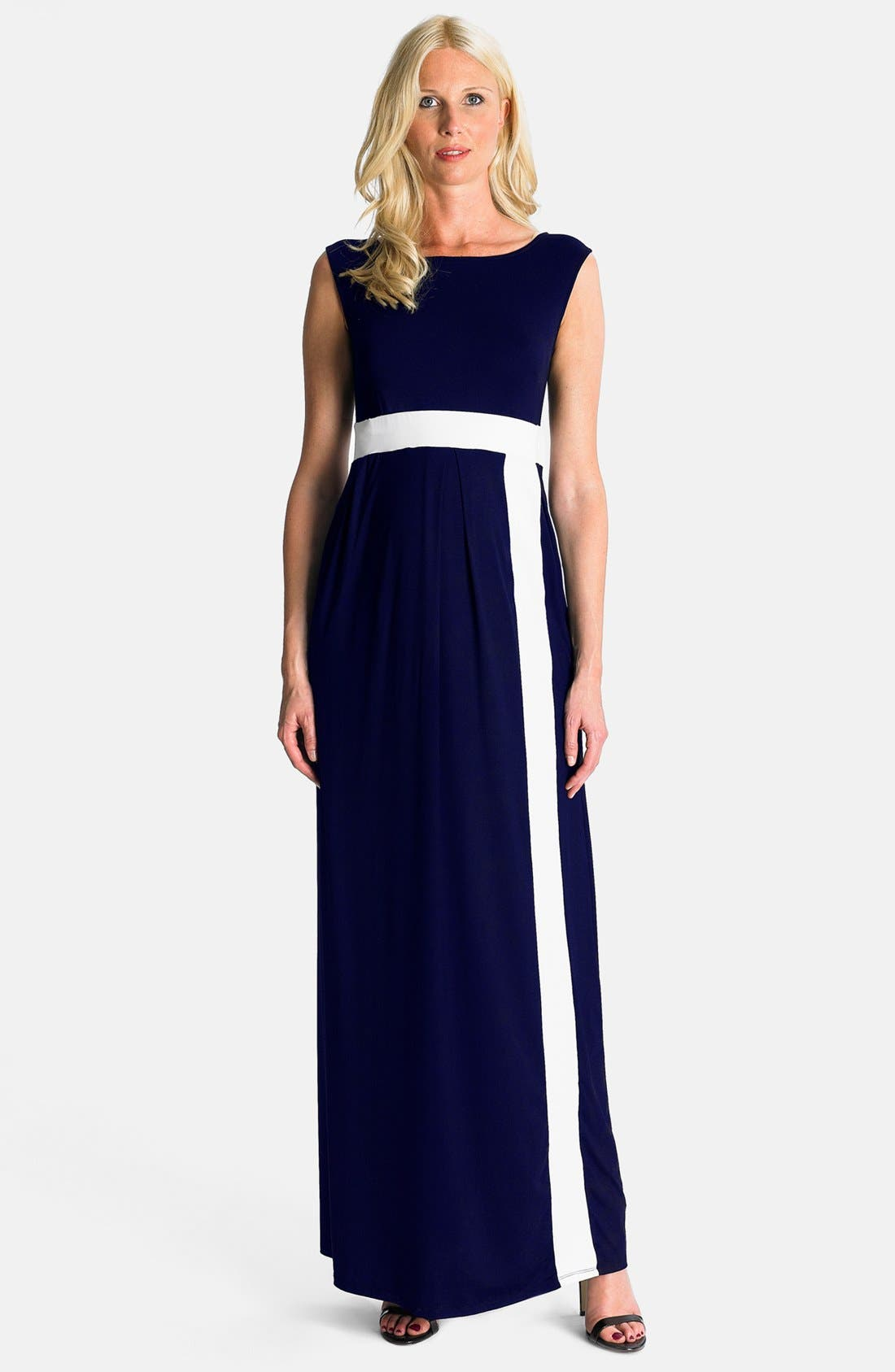 Main Image - Eva Alexander London 'Alexa' Maternity Maxi Dress