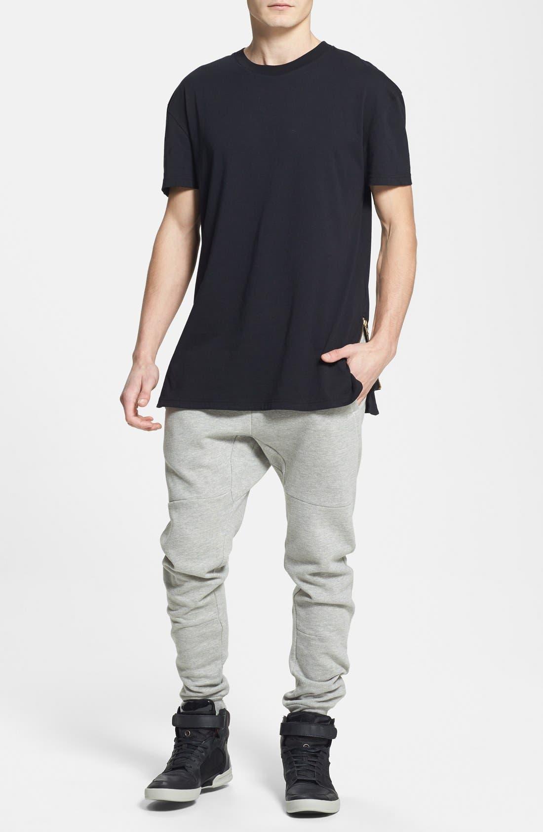 Alternate Image 3  - Topman Skinny Fit Jogger Pants with Zip Hems