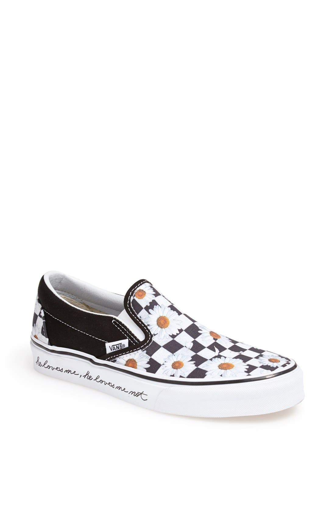 Main Image - Vans 'He Loves Me, He Loves Me Not' Slip-On Sneaker (Women)