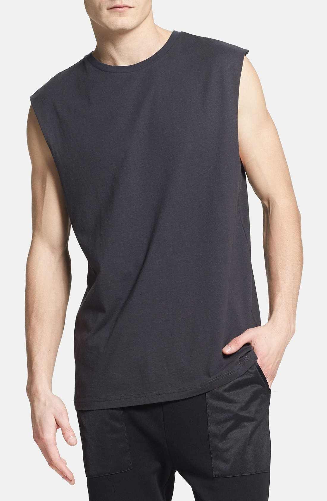 Main Image - Topman Oversized Sleeveless Crewneck T-Shirt