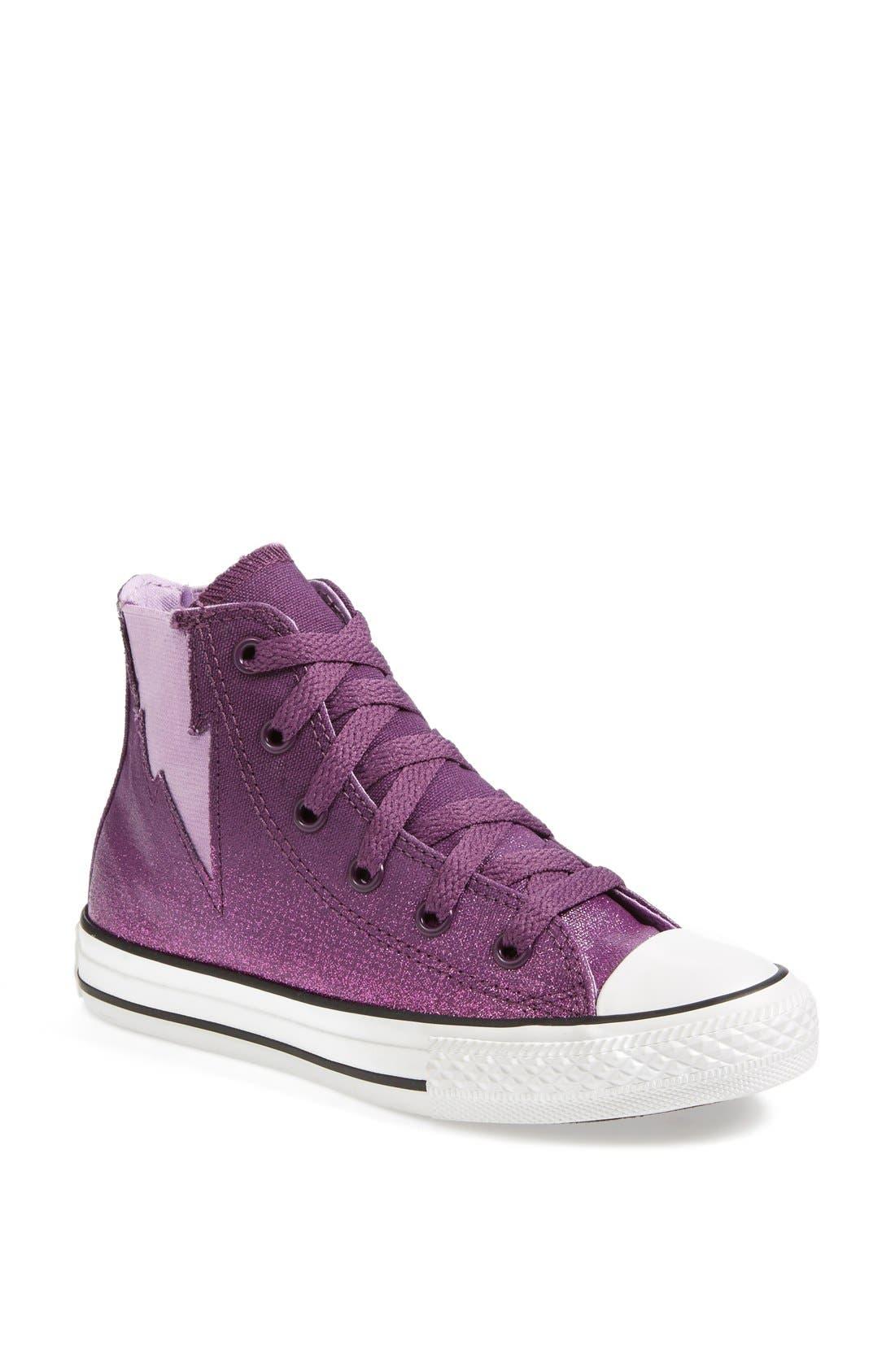 Main Image - Converse Chuck Taylor® All Star® 'Sparkle Wash Boltz' High Top Sneaker (Toddler, Little Kid & Big Kid)