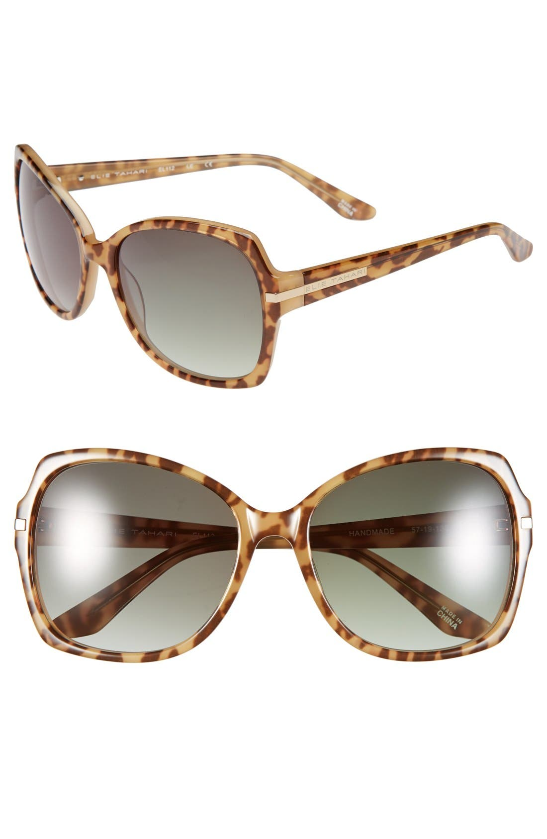 Alternate Image 1 Selected - Elie Tahari 57mm Butterfly Sunglasses