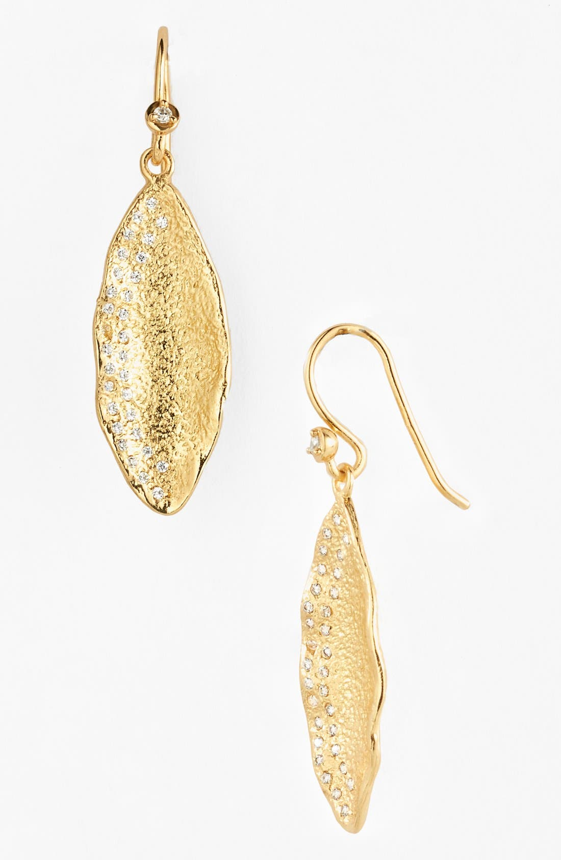'Mademoiselle' Pod Drop Earrings, Gold/ Clear
