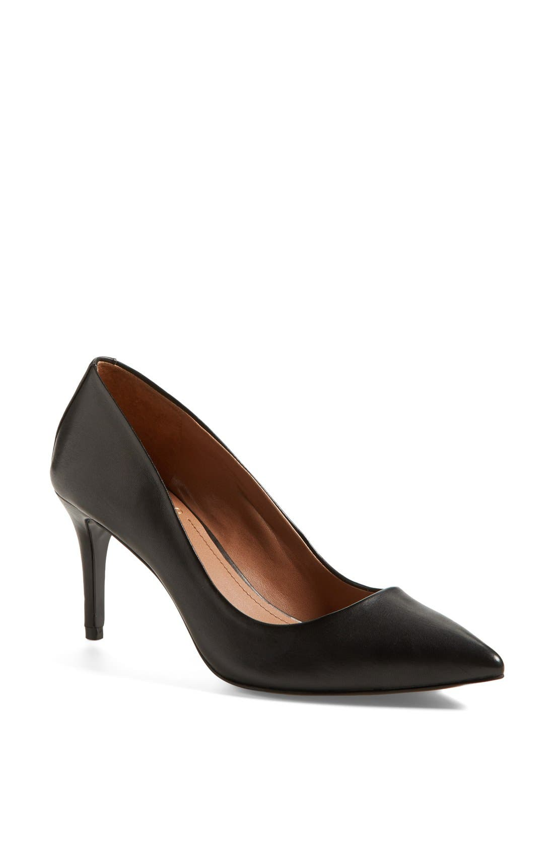 Alternate Image 1 Selected - Vince Camuto 'Caprita' Leather Pointy Toe Pump (Nordstrom Exclusive) (Women)