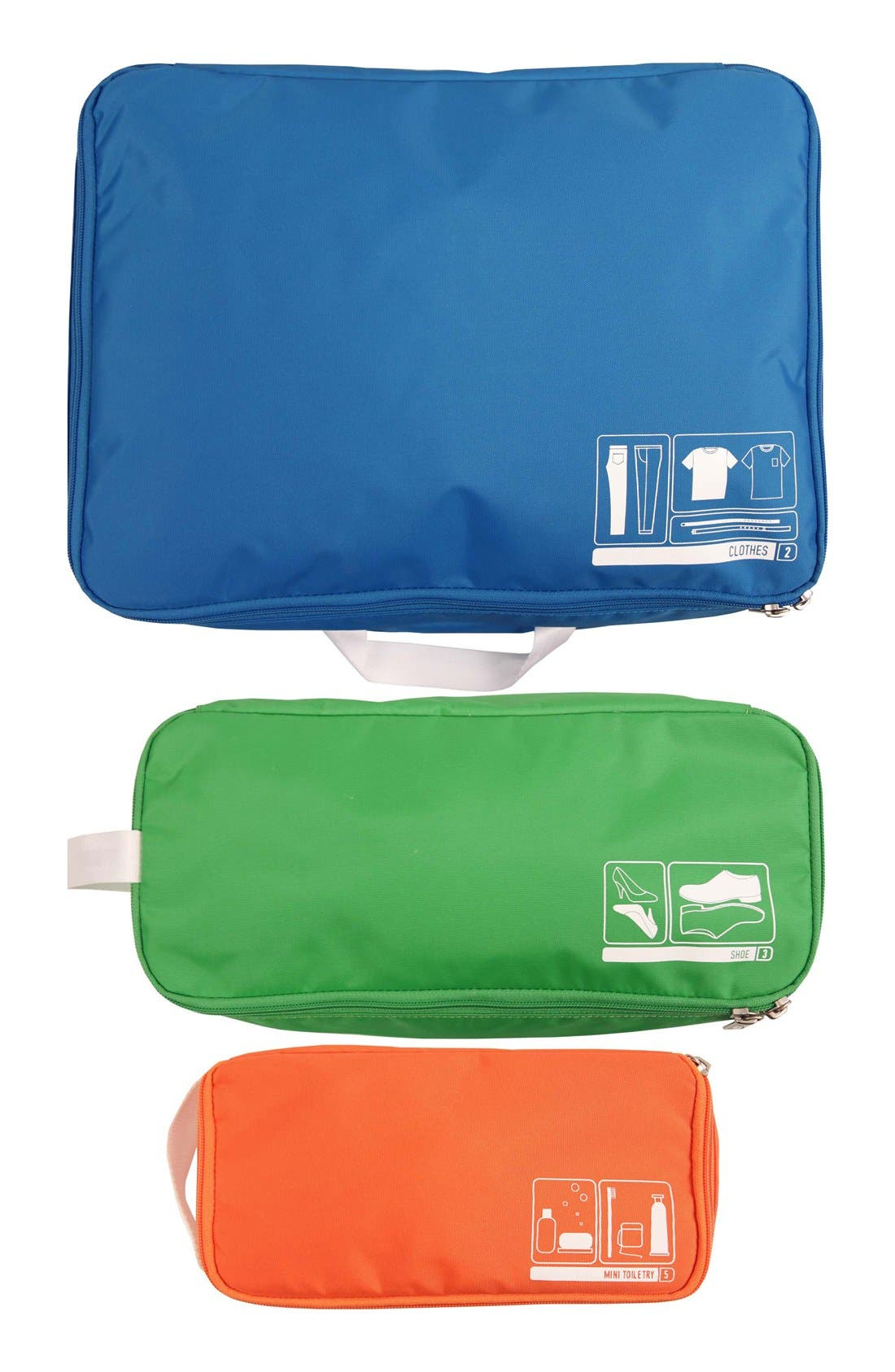Alternate Image 1 Selected - Flight 001 'Spacepak' Space Saving Travel Pouch Set