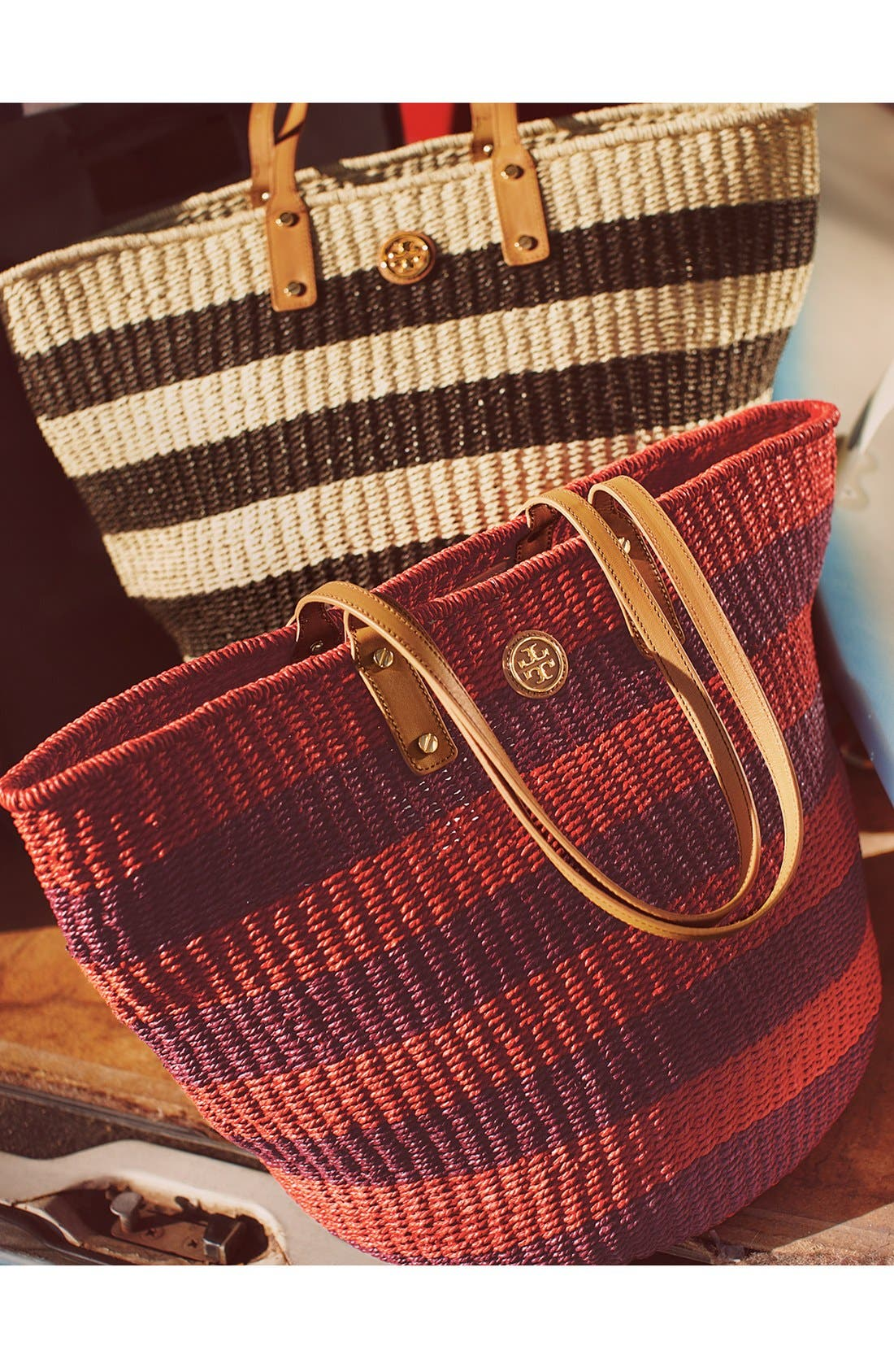 Alternate Image 5  - Tory Burch 'Tyler' Straw Tote