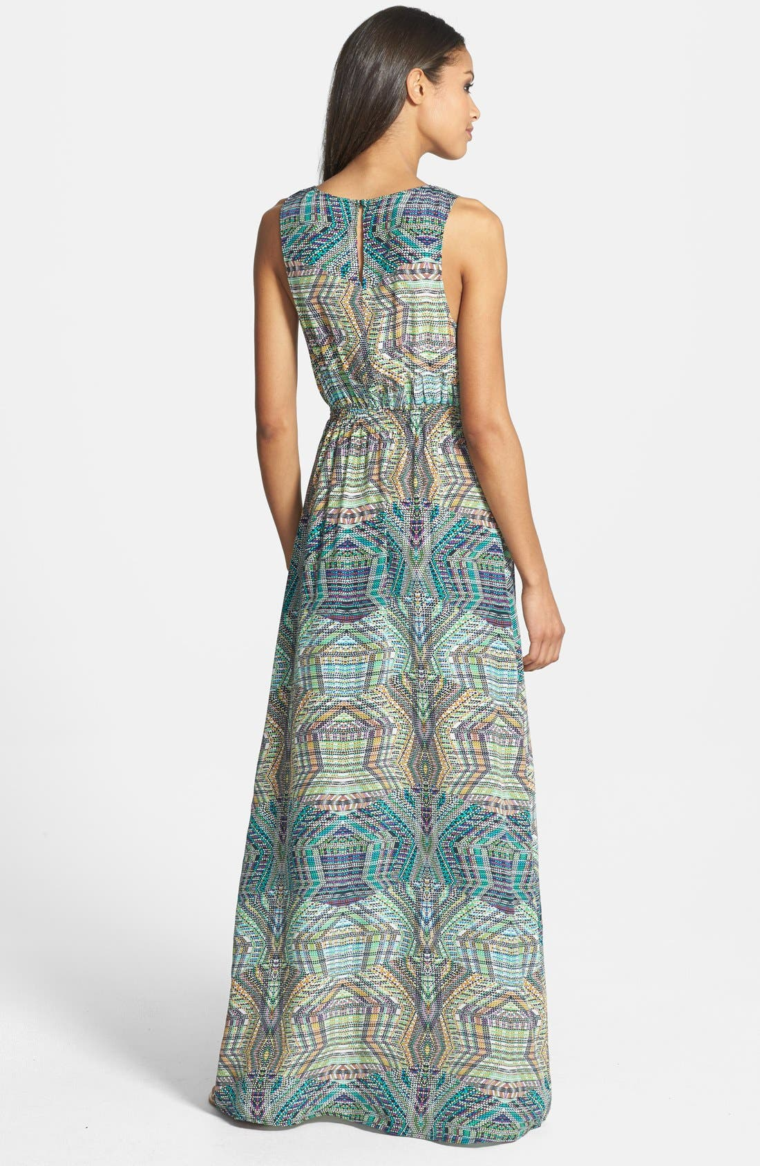 Alternate Image 2  - Charlie Jade 'Jacy' Print Silk Crêpe de Chine Maxi Dress
