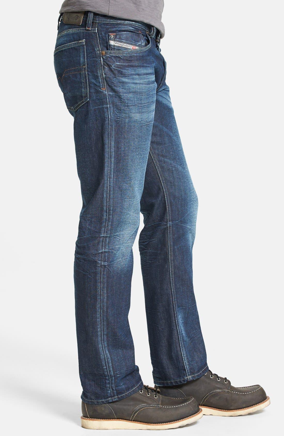 Alternate Image 3  - DIESEL® 'Waykee' Straight Leg Jeans (0806U)
