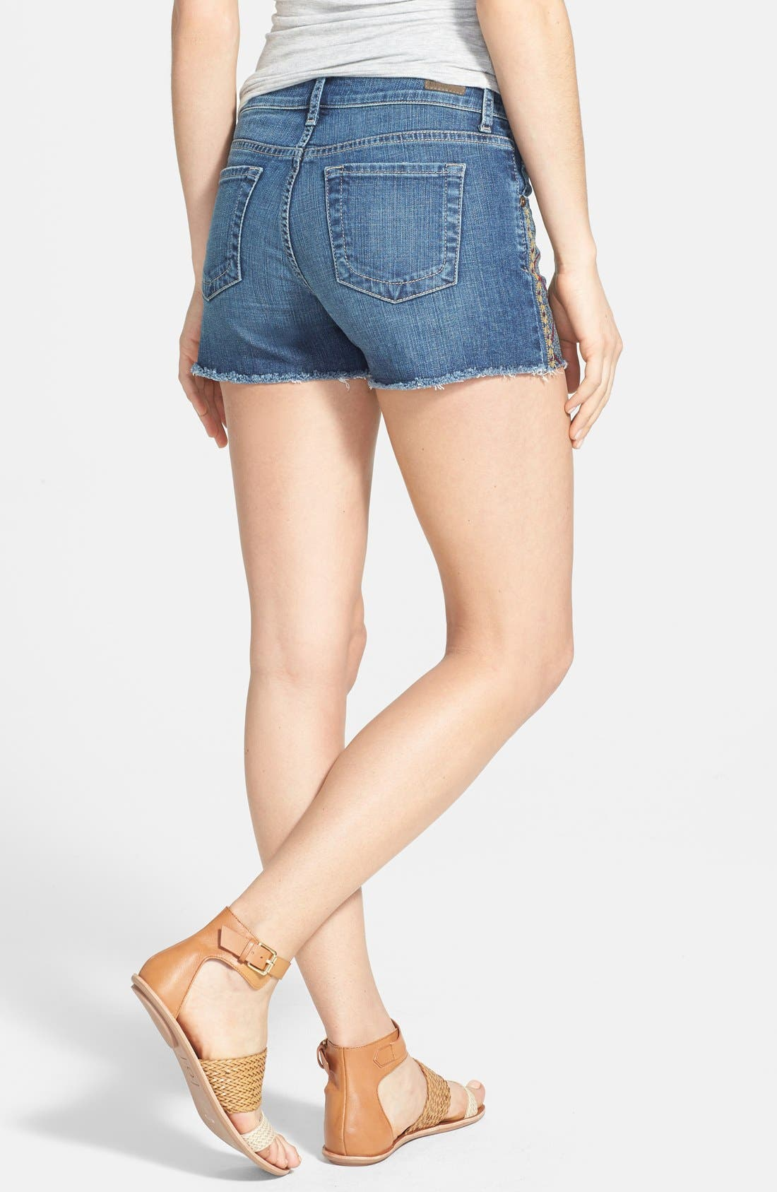 Alternate Image 2  - KUT from the Kloth Embroidered Cutoff Denim Shorts