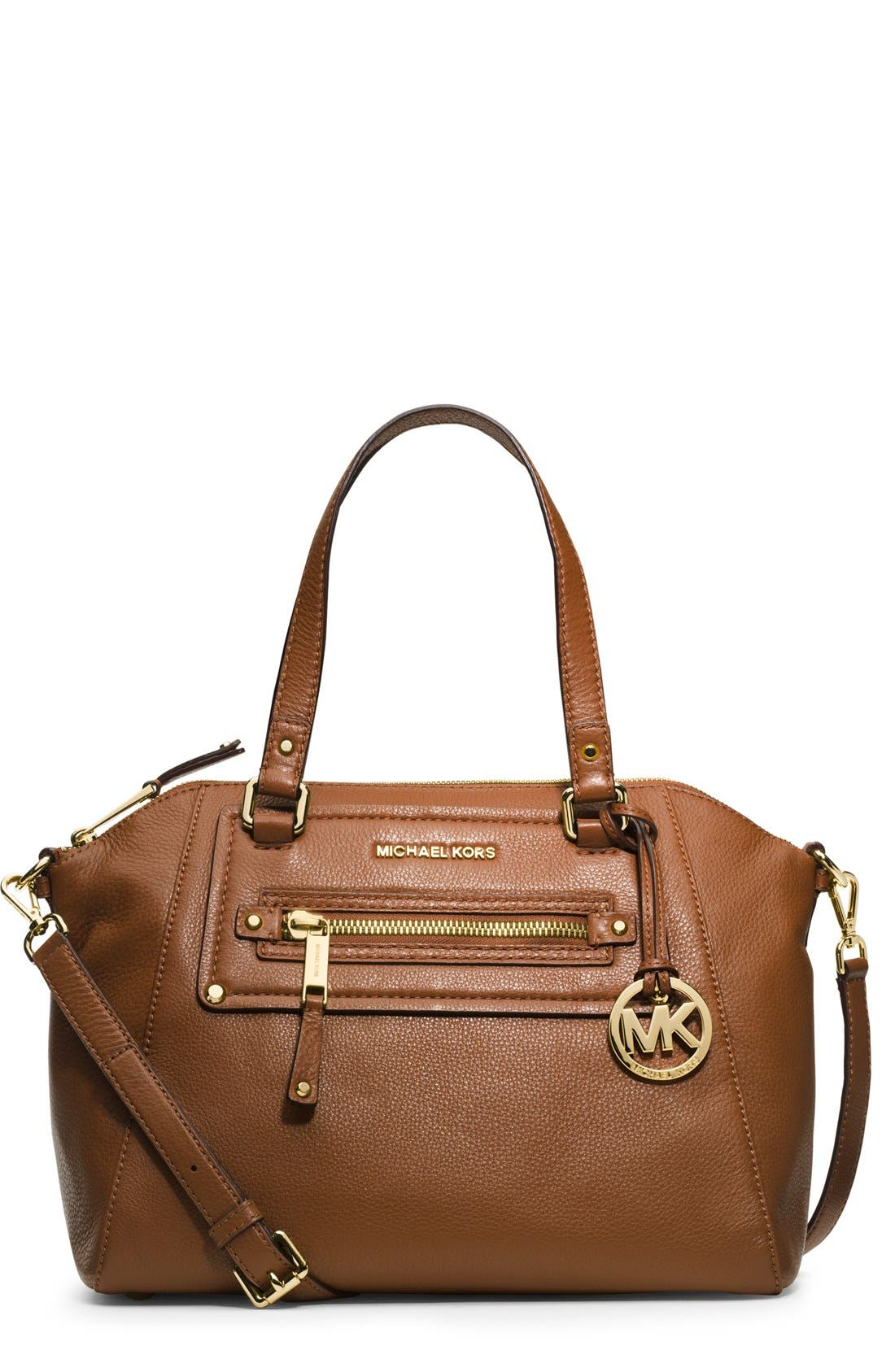 Alternate Image 1 Selected - MICHAEL Michael Kors 'Gilmore' Leather Satchel