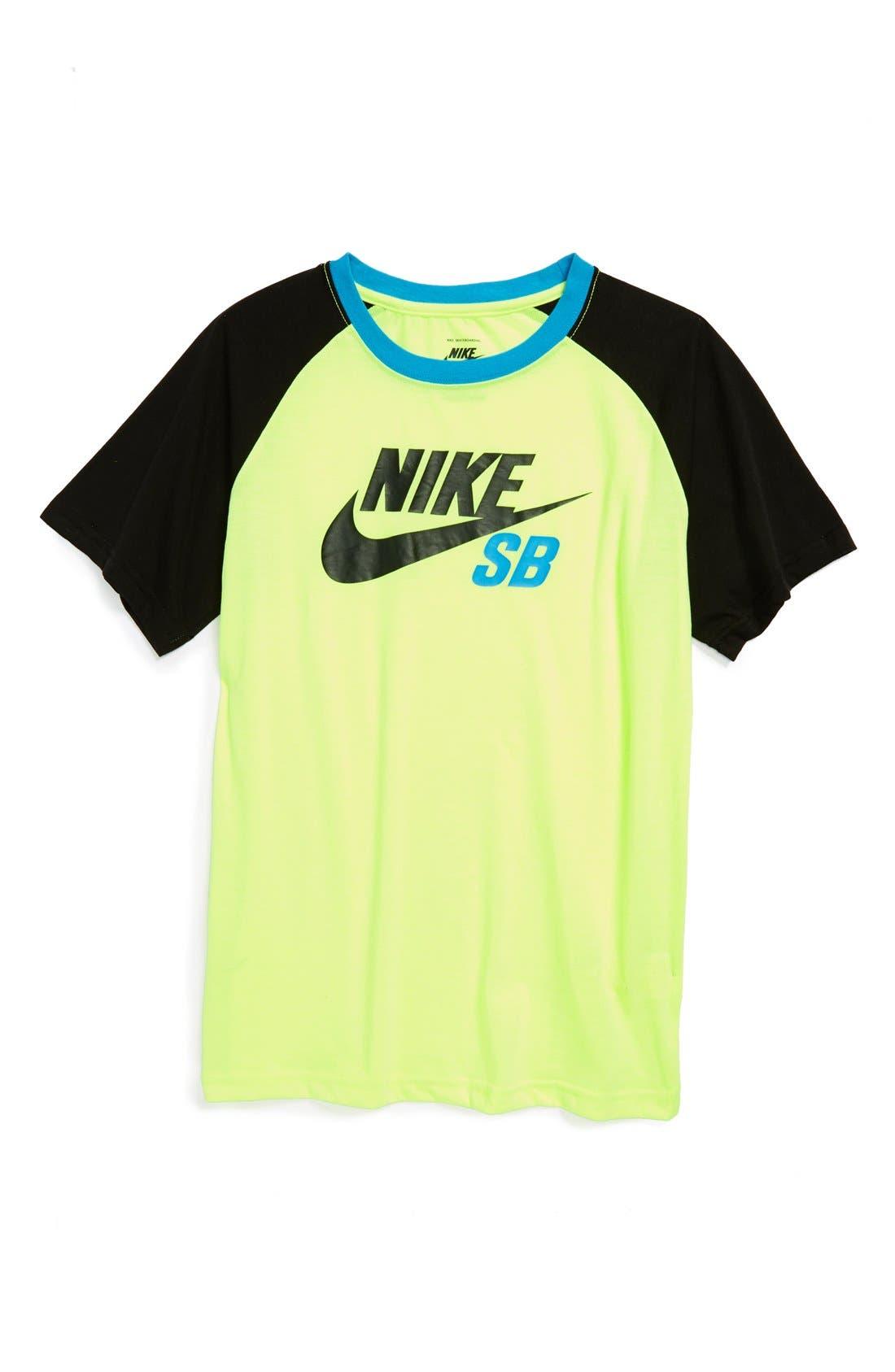 Alternate Image 1 Selected - Nike 'SB' Raglan Sleeve T-Shirt (Big Boys)