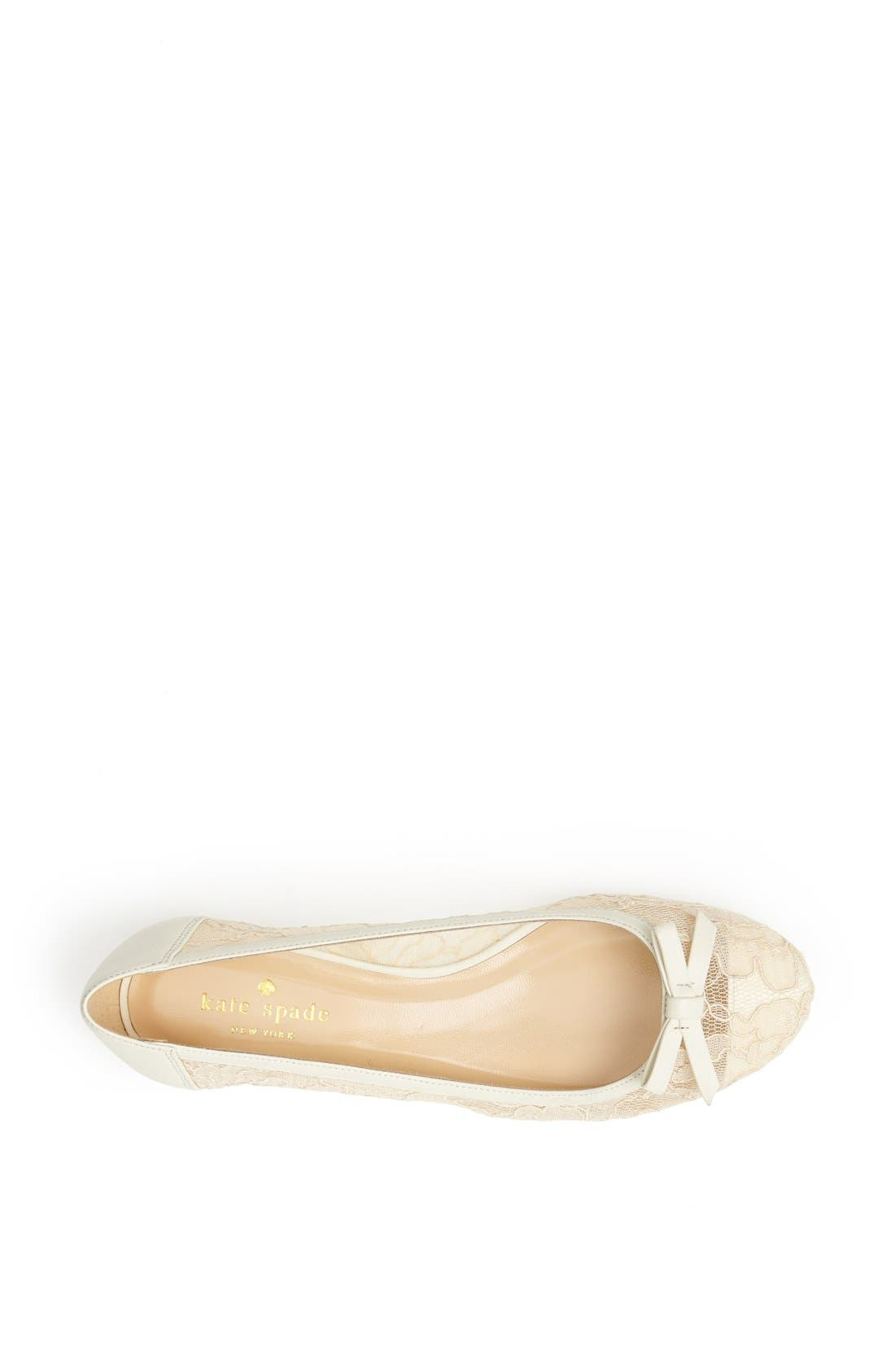 Alternate Image 3  - kate spade new york 'banner' lace & leather flat