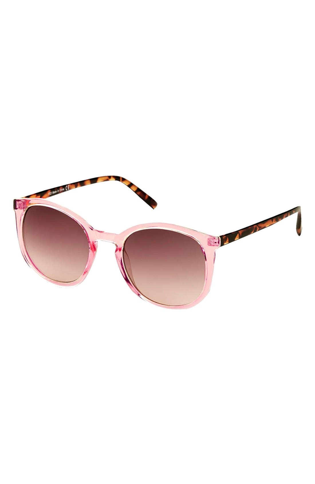 Alternate Image 1 Selected - Topshop 50mm Round Sunglasses