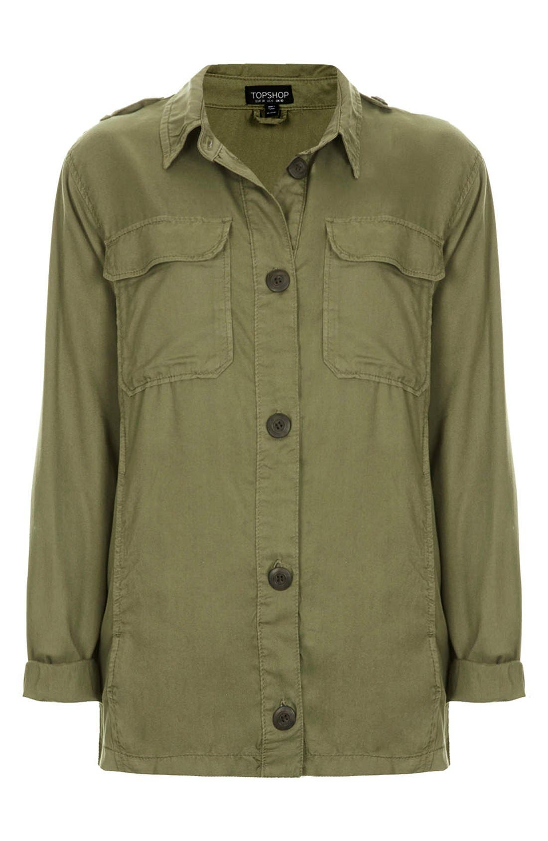 Alternate Image 3  - Topshop 'Rufus Shackett' Army Jacket