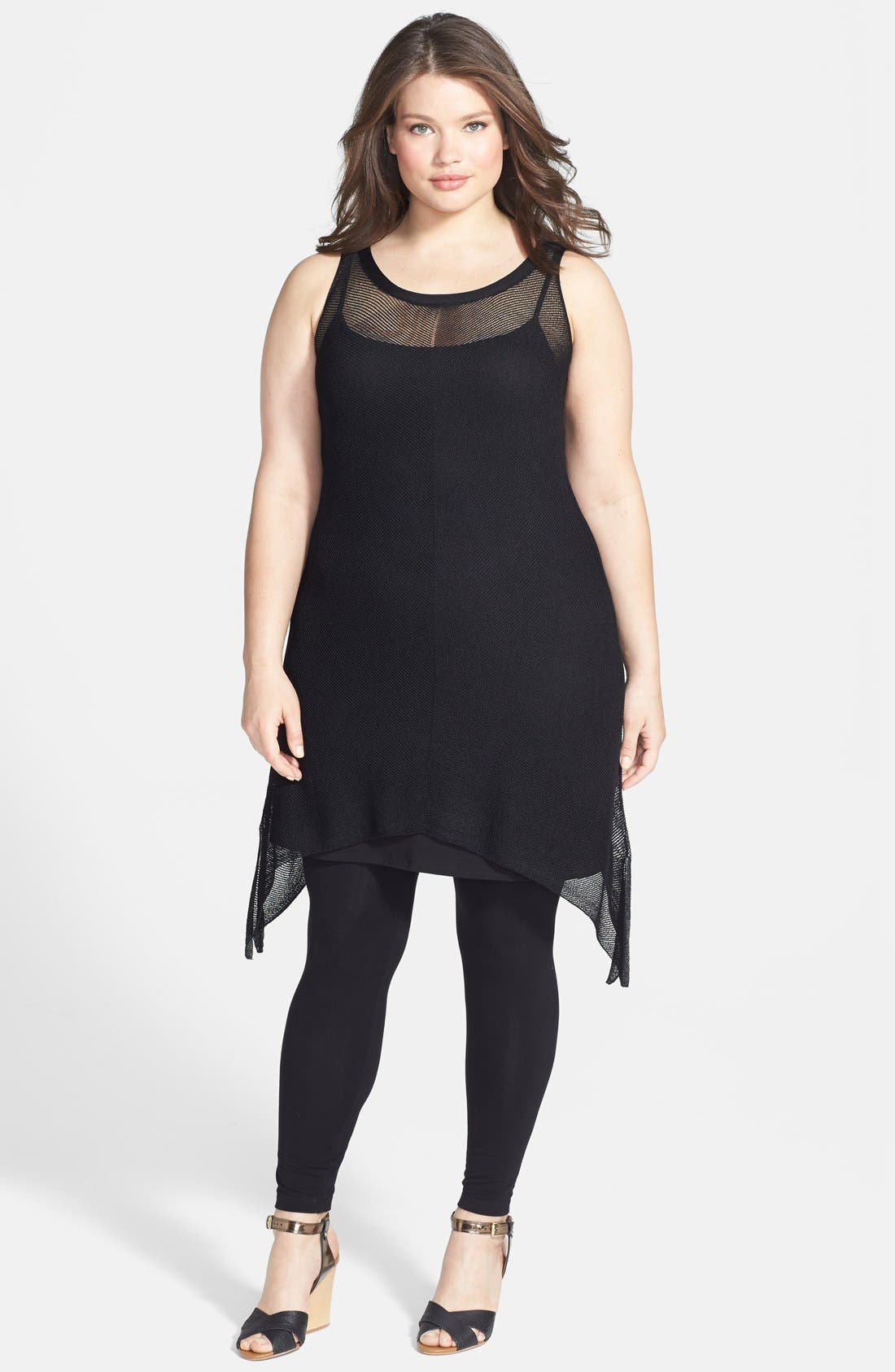 Main Image - Eileen Fisher Scoop Neck Layering Dress (Plus Size)