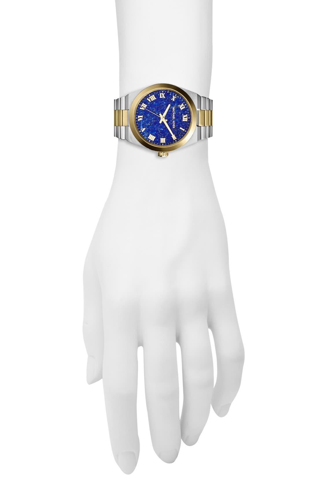 Alternate Image 4  - Michael Kors 'Channing' Lapis Dial Bracelet Watch, 38mm