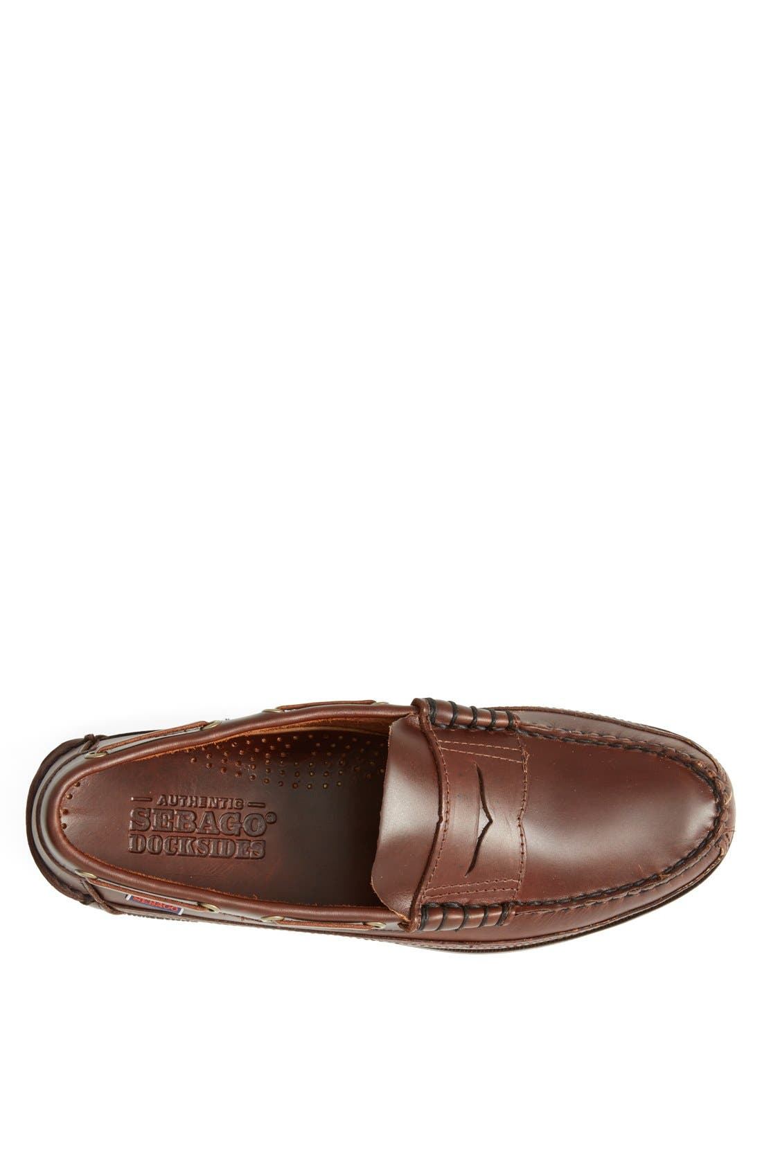 'Sloop' Penny Loafer,                             Alternate thumbnail 3, color,                             Brown