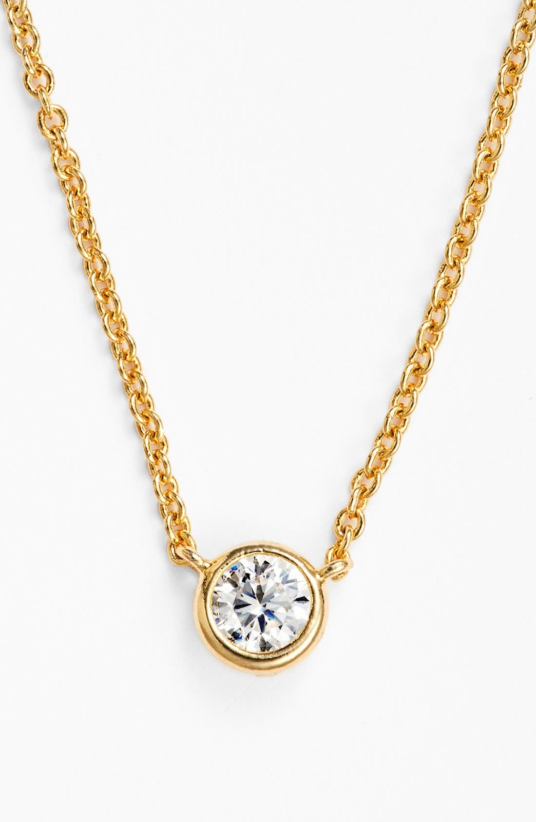 Main Image - BaubleBar Round Crystal Pendant Necklace (Online Only)