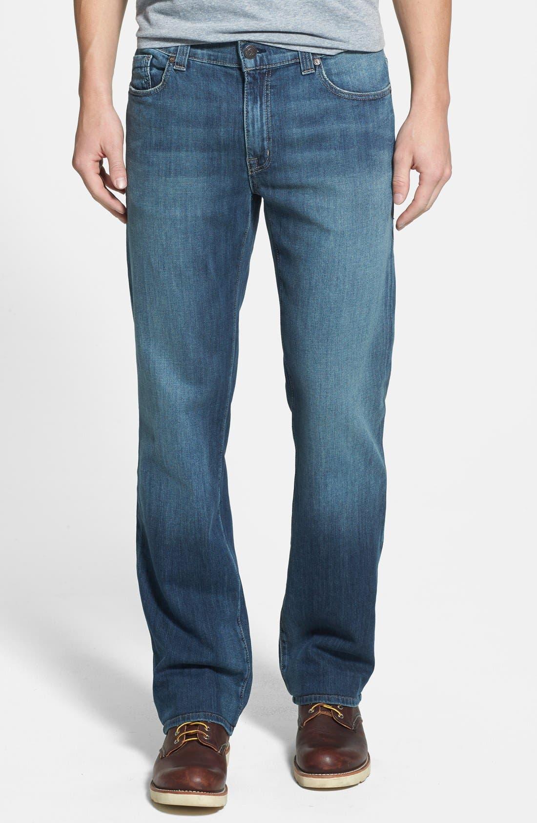 Main Image - Fidelity Denim '5011' Straight Leg Jeans (Drifter Blue)