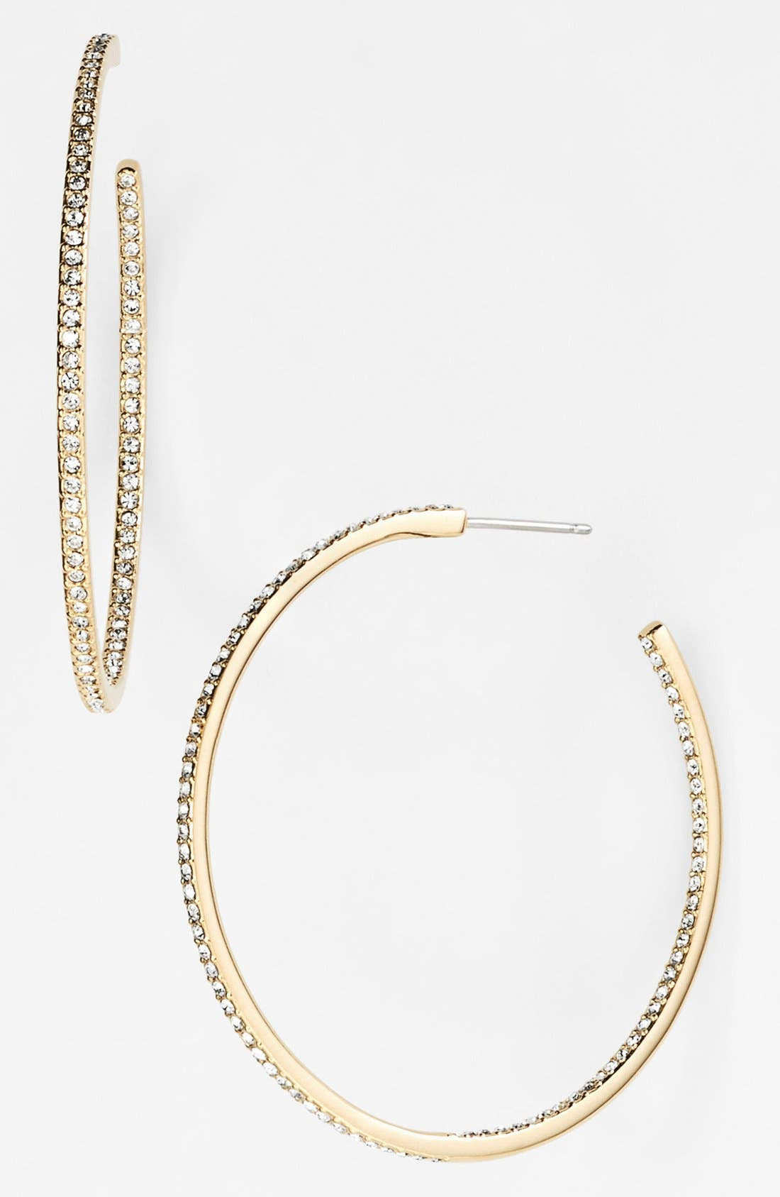 Medium Inside Out Hoop Earrings,                         Main,                         color, Gold/ Clear